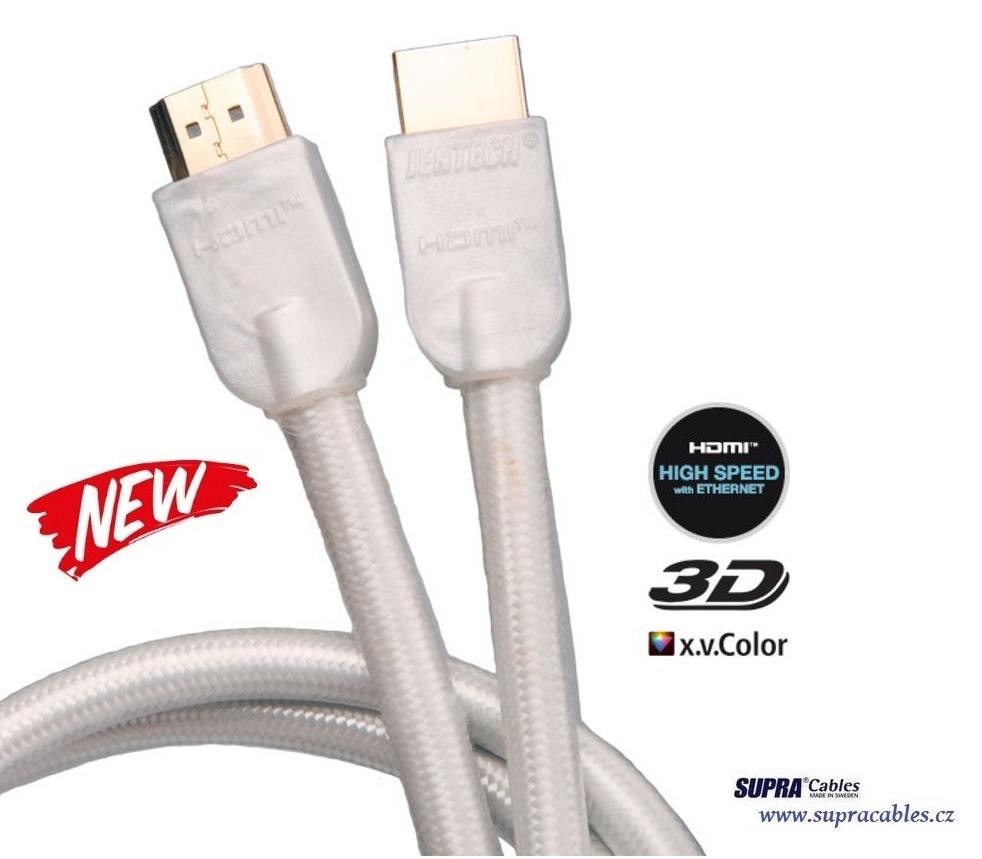 SUPRA by JenTech - HDMI HIGH SPEED ETHERNET WHITE